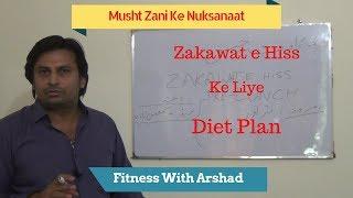 Musht Zani Ke Nuksanat | Zakawat e Hiss Ke Lie Diet Chart (Part 1) By Fitness With Arshad