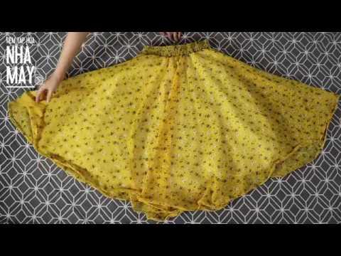 DIY – Hướng dẫn may chân váy hoa xòe (Making flared skirt easily)
