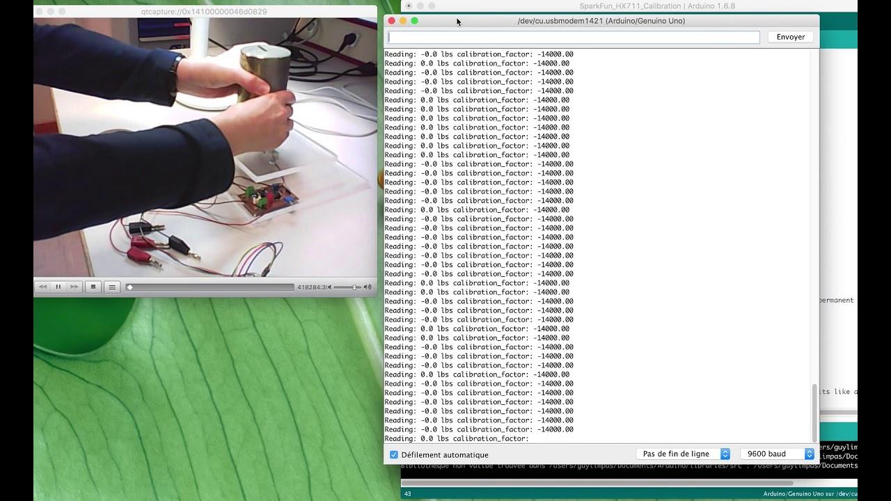 Jauge de contrainte, HX 711 et Arduino
