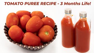 Tomato Puree - Basic Recipe with 3 Months Life - CookingShooking