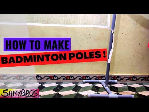 How to make badminton poles using PVC