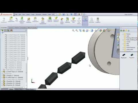 Rope Animation in SolidWorks