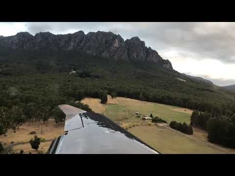 Flying from The Vale Tasmania (YVAL) Airfield in a Pilatus PC12