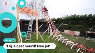 Nederlandse YouTubers bouwen een achtbaan in de tuin