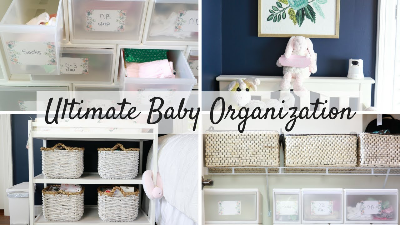 NURSERY ORGANIZATION + CLOSET + CHANGING TABLE + NURSERY TOUR