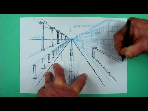 Wie zeichnet man perspektivisch ? Zeichnen für Kinder