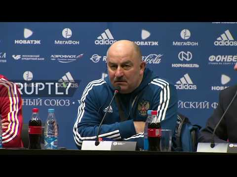 Live: Russian team holds press conference in Moscow ahead of Brazil friendly