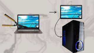 Как сделать монитор из матрицы ноутбука.
