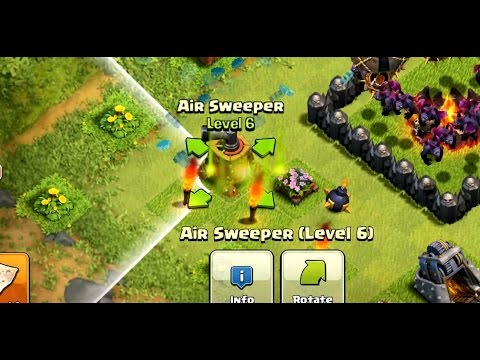 MAXING AIR SWEEPER | Clash Of Clans | NEW UPDATE