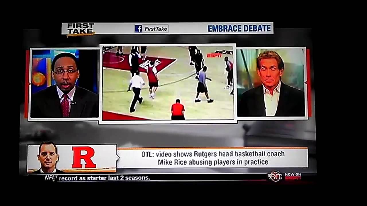 ESPN First Take | Rutgers Coach Mike Rice caught abuse ...