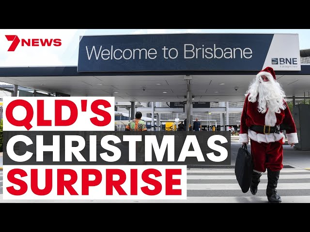 Queensland's COVID Christmas Surprise | State to reopen | 7NEWS Australia