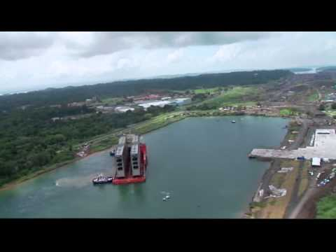 Arrival of First Gates for the Expanded Panama Canal