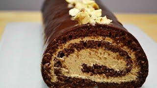 Шоколадный РУЛЕТ с Шоколадным ЗАВАРНЫМ КРЕМОМ |  Безумно Вкусный!  | Sponge roll