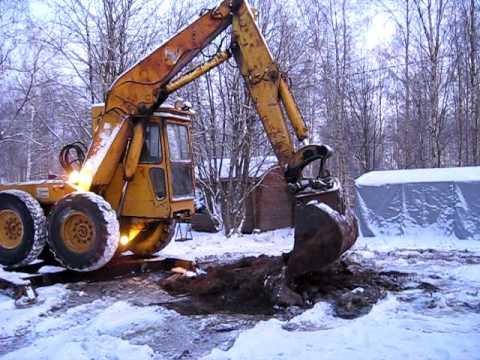 Pingon excavator filmed in Finland