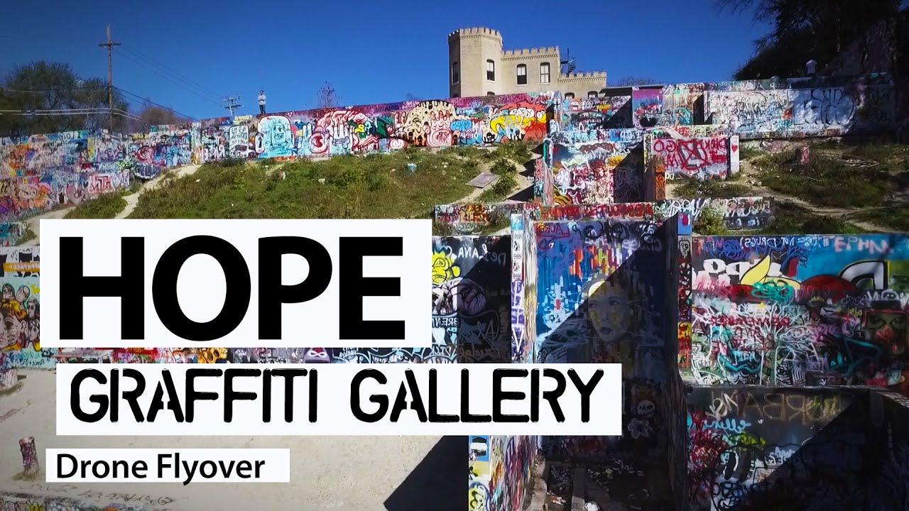 Graffiti wall austin - Epic Drone Flyover Hope Outdoor Graffiti Gallery In Austin Texas Youtube