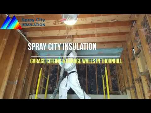Spray Foam Insulation For Garage Ceiling Garage Walls In