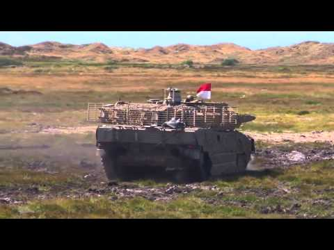 Tanks shot loose on the moor | the Danish Defence