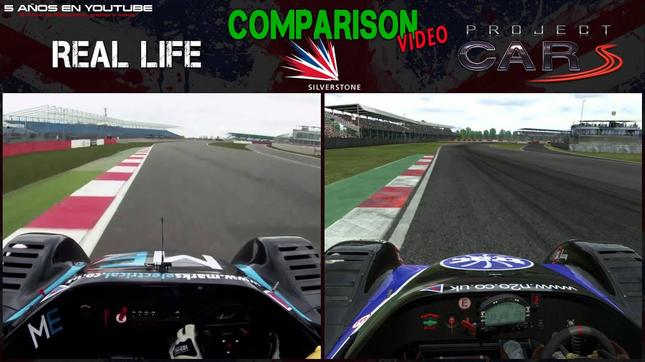 Project Cars Vs Real Life Radical Silverstone Digiprost