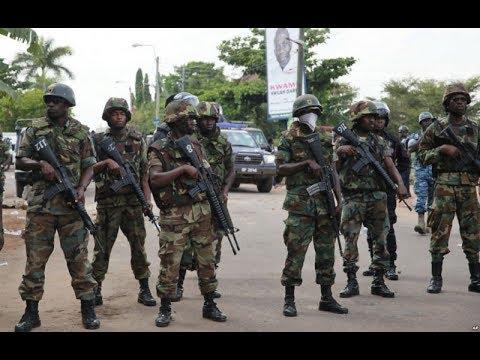 The Military goes Wild Against Ghana Police Over Captain Mahama's Death