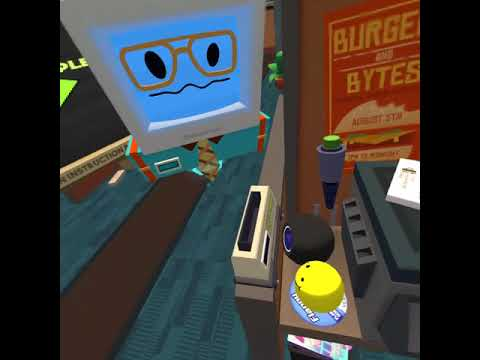 playing job simulator as a office worker on the oculus ...
