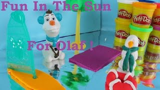 Disney Frozen Olaf Play-Doh Summer Day at the Beach with Minnie Play-Doh sail board
