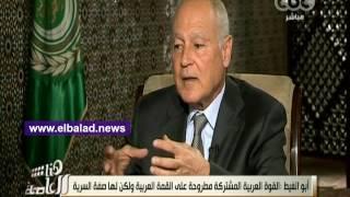بالفيديو..أبو الغيط: تم الانتهاء من القوة العربية المشتركة وبنودها سرية
