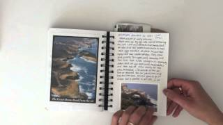 How I Document My Travels, Australia Mini Album Flip Through
