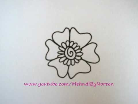 How To Draw A Flower Step By Step Part 1 Youtube