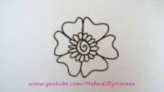 How to draw a flower step-by-step (Part 1)