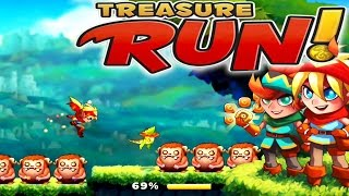 Treasure Run Gameplay (Teamlava) : Addictive 2D Endless Runner !