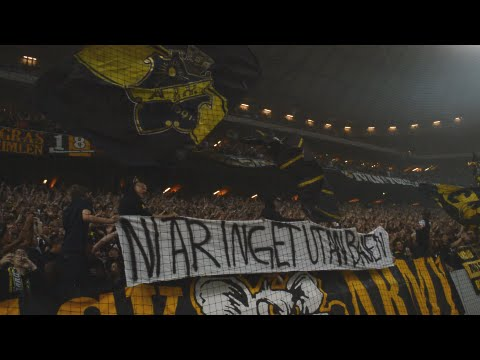 Pulsating atmosphere during half-time of AIK v Djurgården