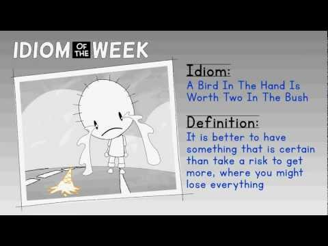 Idiom - A Bird In The Hand Is Worth Two In The Bush