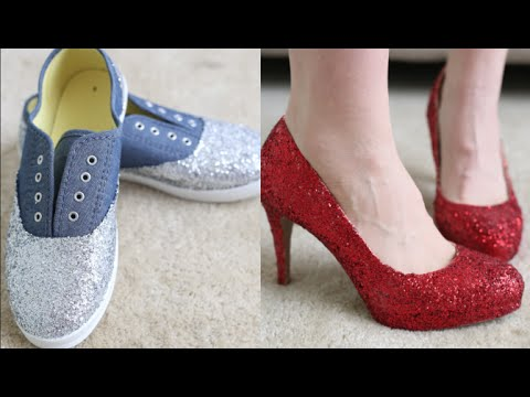 How To Make Glitter Shoes! - YouTube