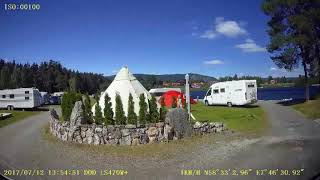 Camper på Evje Mineralpark.