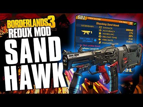 The OG is BACK!!!  SAND HAWK Legendary Weapon Guide!  Borderlands 3 Redux Mod!  (Mod)