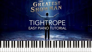 The Greatest Showman - Tightrope (Easy Piano Tutorial & Sheets) (Michelle Williams)