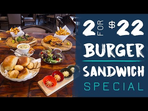 2 For $22 Sandwich/Burger Special