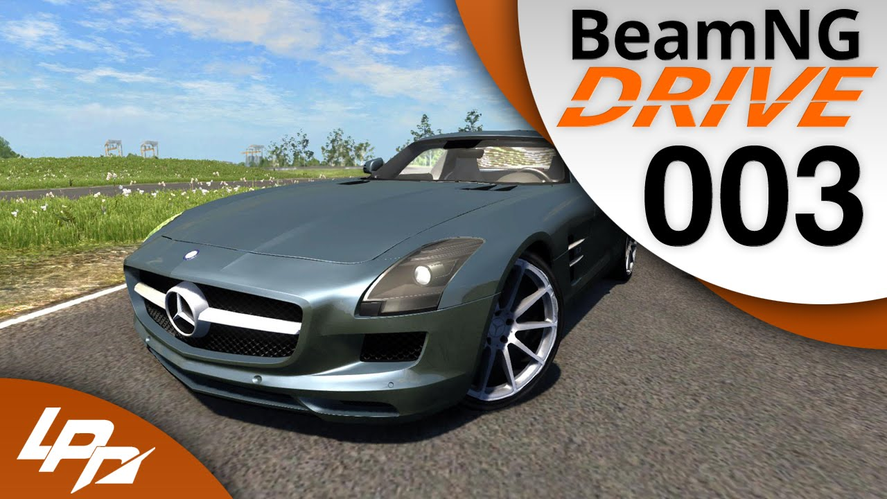 BeamNG.drive Part 3 - Mercedes SLS AMG (FullHD) / Lets Play BeamNG.Drive - YouTube