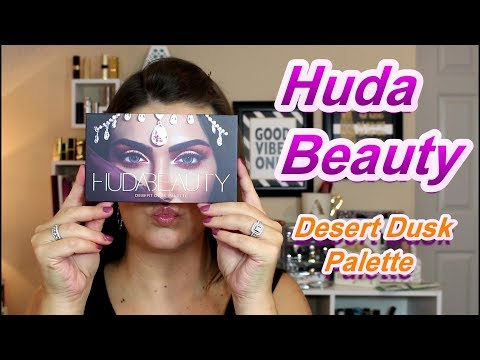 HUDA BEAUTY DESERT DUSK PALETTE | First Impressions, Swatches & Demo | wannamakeup