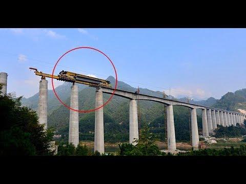 Heavy Duty Large Construct Building Bridge Machines, Fastest Extreme Construction Modern Technology.