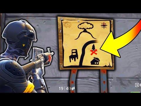 NEW *SECRET* TREASURE MAP IN FORTNITE!!! (Fortnite Battle Royale CHALLENGE)