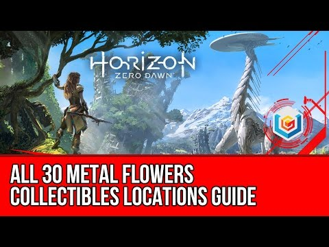 Horizon Zero Dawn - All Metal Flower Locations Guide (All Metal Flowers found Trophy Guide)