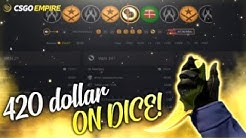 HITTING 420 ON DICE! CSGO EMPIRE IS BACK!