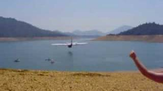 FLYING AIR TANKER AT SHASTA LAKE