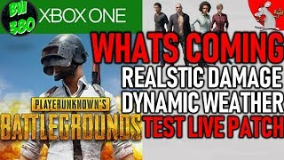 PUBG XBOX ONE UPDATE! WHATS COMING? TEST LIVE INFO!