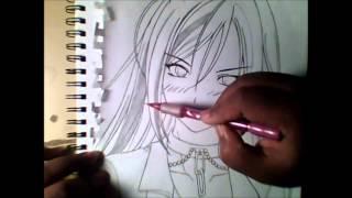 DRAWING MOKA AKASHIYA FROM - ROSARIO + VAMPIRE
