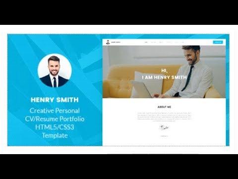 Henry Smith - Creative Personal CV/Resume Portfolio HTML5 ...