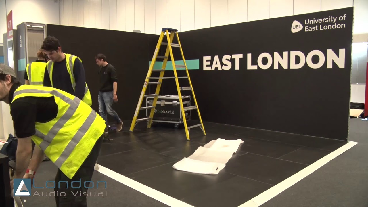 Exhibition Stand Wall : Uel university of east london led wall exhibition stand by