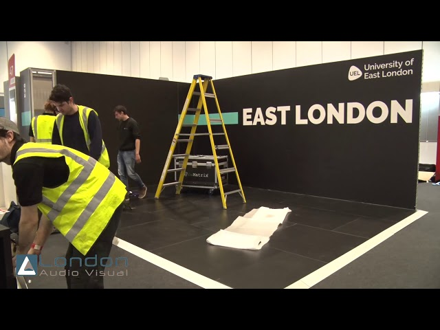 (UEL) University of East London LED Wall & Exhibition Stand by London Audio Visual Ltd