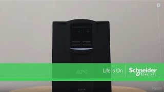 APC Smart UPS - How to connect battery in first used